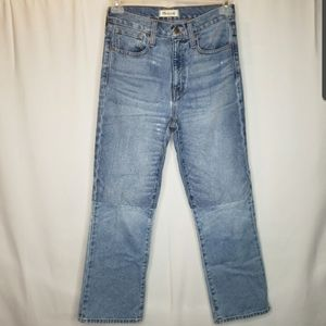 Madewell retro crop bootcut high rise jeans
